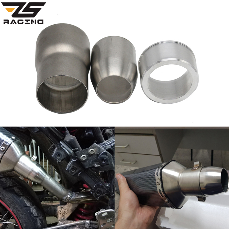 Universal Motorcycle Exhaust Escape Moto Exhaust Pipe Adapter Connector 38-51MM