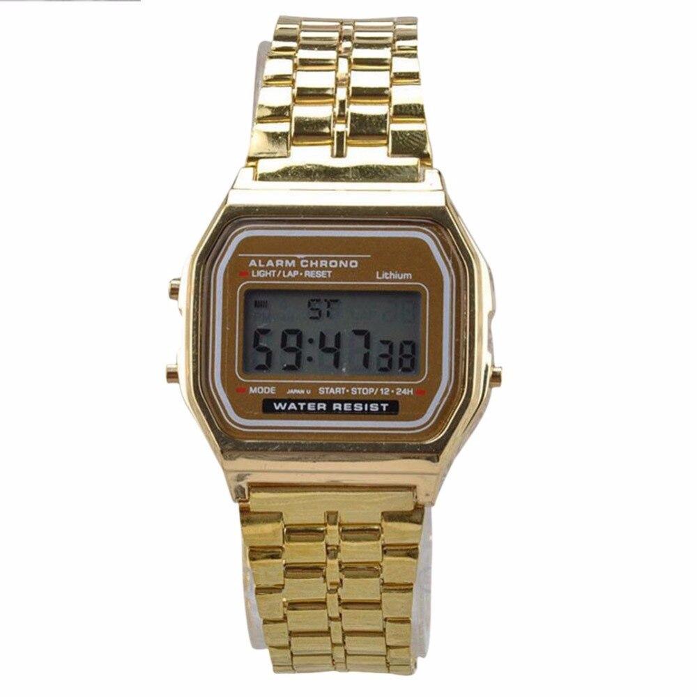 Relogio Masculino montre Vintage affichage numérique électronique montre de Style rétro or argent montres Relojes Para Hombres