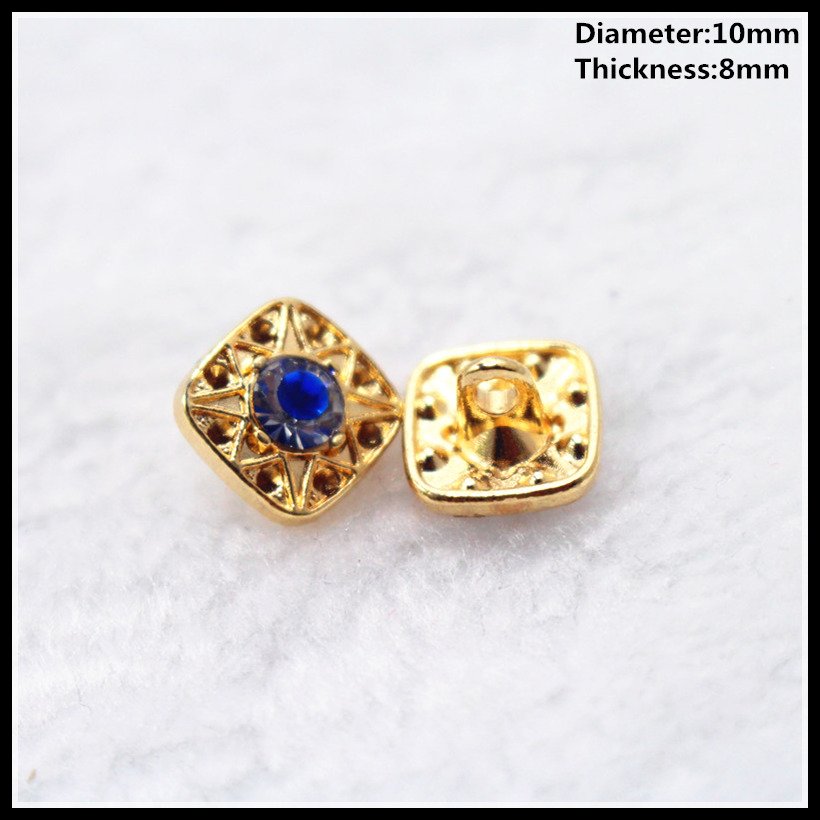 Apparel Sewing & Fabric Arts,crafts & Sewing Precise Wholesale 10mm,20pcs New Fashion With Drill Metal Buttons High Quality Brand Buttons For Men Shirt Suit Sewing Accessories