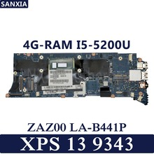 KEFU ZAZ00 LA-B441P Laptop motherboard for Dell XPS 13 9343 Test original mainboard 4G-RAM I5-5200U