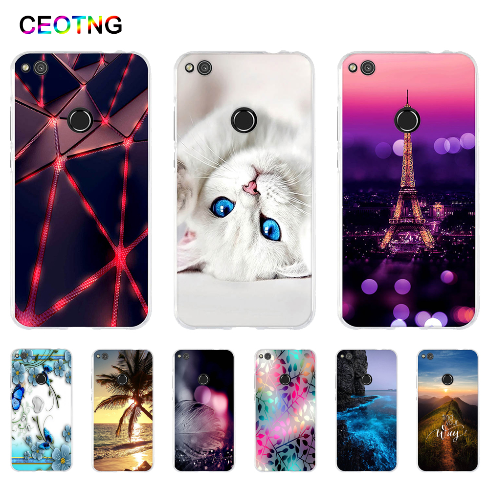 hot sale online 3ecb6 ece33 Case For Huawei P8 Lite 2017 / GR3 2017 Case Back Silicone Cover for Huawei  Honor 8 Lite Soft TPU Fundas for Huawei P9 Lite 2017