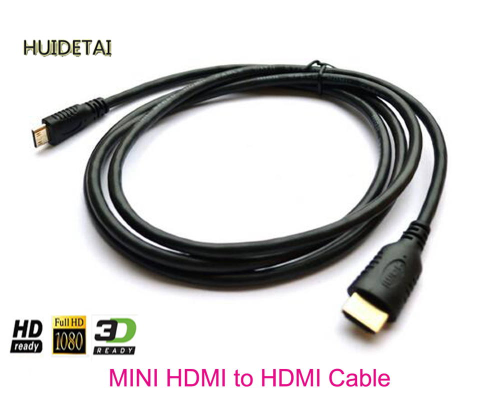 Mini HDMI to HDMI cable 1.5m for Canon EOS Rebel HTC-100 T2i T1i 7D 60D wild style water transfer decal nail art decoration sticker