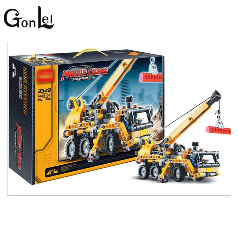 GonLeI Decool 3348/3349 Mobile cranes Technology Series building block toys set for Children birthday gifts free shipping