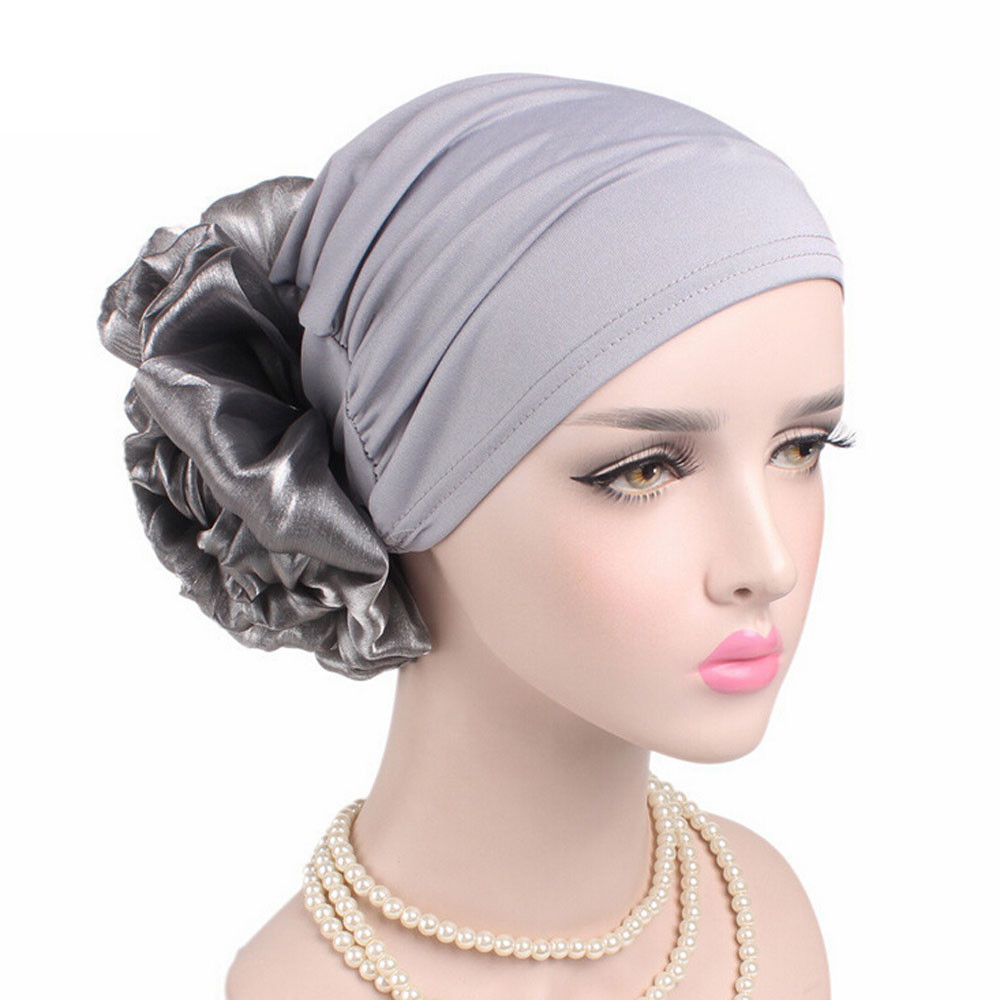 hats for women Muslim Pleated Flower Cancer Chemo Hat Beanie Scarf Turban Head Wrap Cap women's hats bonnet femme(China)