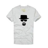 여름 코튼 탑 나쁜 하이젠 베르크 T 셔츠 남성 코튼 V 넥 T 셔츠 피트니스 짧은 소매 T 셔츠 플러스 크기 S-4XL