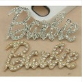 Free shipping 5pcs/lot Fashion gold silver  letter phone jewelry decoration DIY alloy mobile phone accessories