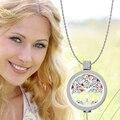 Vinnie Diseño Joyería de 33 MM de Cristal de Acero Inoxidable Collar Colgante de Monedas de Árbol de La Vida con 35 MM Titular de La Moneda, 80 cm de Cadena Larga
