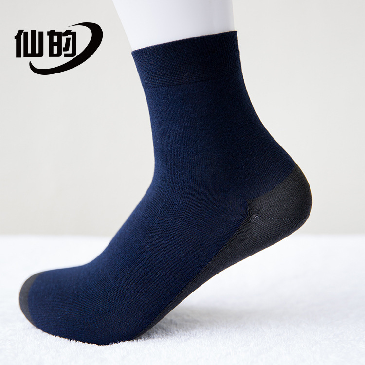 2017Autumn new arrival graphene By Far Infra-red navy blue Deodorization Perspire Remove the odor Man Socks XDNAN/010/TY