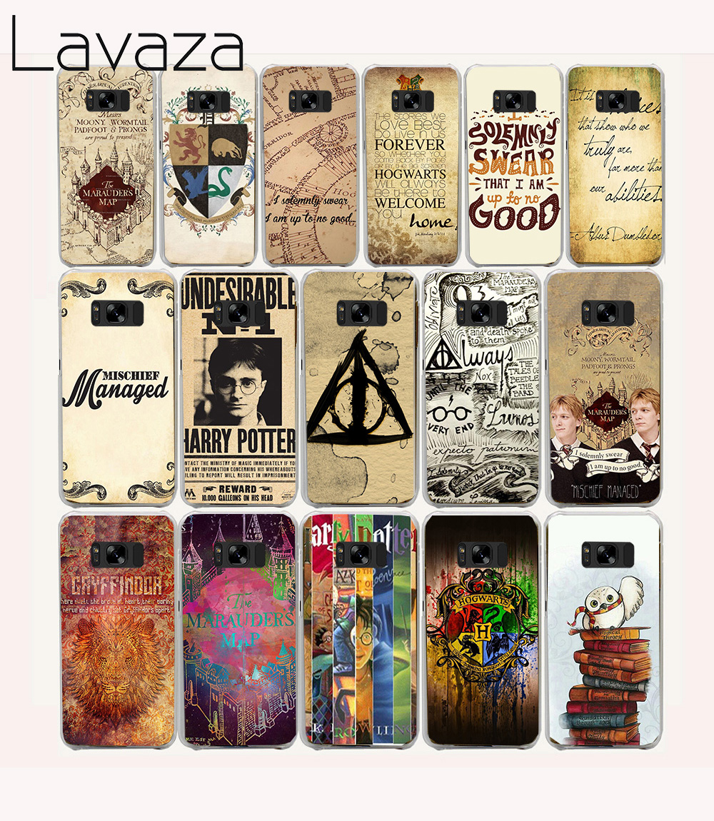 154e Harry Potter Marauders Map Pattern Hard Transparent Phone Cases Cover for Galaxy S2 S3 S4 S5 & Mini S6 S7 & Edge Plus