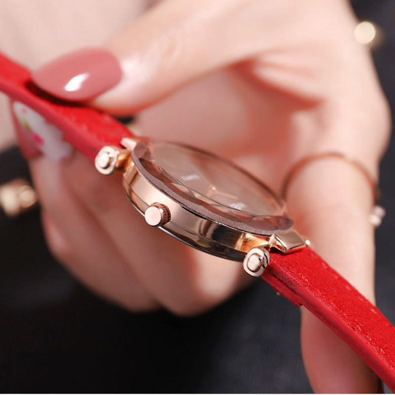 Luxury ladies watch ladies magnetic starry sky fashion diamond female leather quartz watch relogio feminino zegarek damski in Women 39 s Watches from Watches