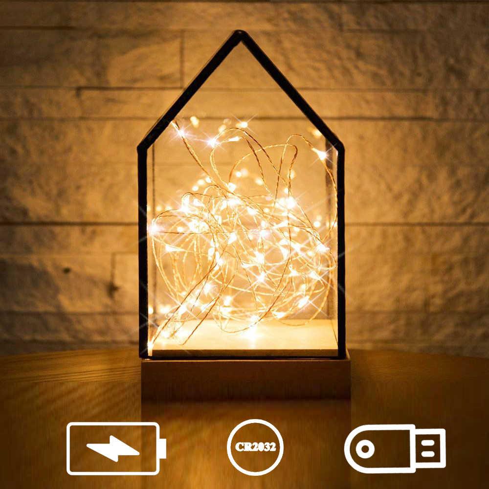 1 متر 2 متر 3 متر 5 متر 10 متر 12 متر 15 متر 20 متر Led سلسلة ضوء الأسلاك النحاسية LED أضواء الجنية في الهواء الطلق مصابيح الزخرفية لعيد الميلاد حفل زفاف
