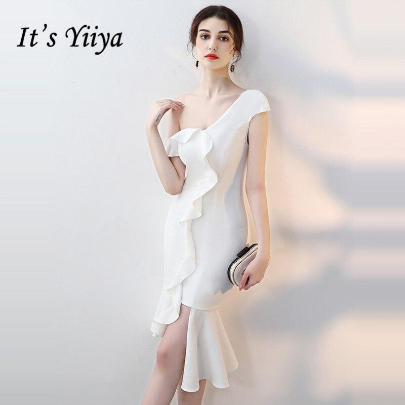 It\'s Yiiya Prom Dresses Sleeveless Mermaid White Fashion Designer ...
