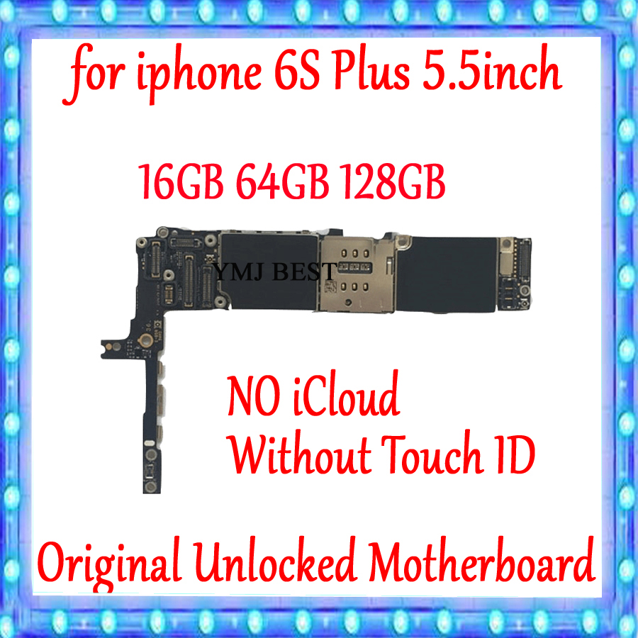For <font><b>iPhone</b></font> <font><b>6S</b></font> Plus Motherboard unlocked Logic board <font><b>16GB</b></font> 64GB 128GB 100% Original for <font><b>iphone</b></font> <font><b>6S</b></font> Plus Mainboard Without Touch ID image