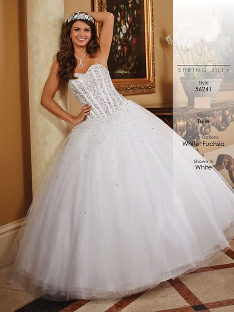 4c92fbdb2 Blanco Quinceanera Viste la Nueva Colección vestido 15 anos festa Largo Sin  Tirantes Con Cuentas vestido