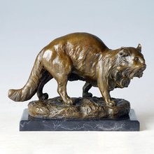 ATLIE BRONZES  bronze statue pet cat CHINESE Home domesticated fat statues sculptures House decoration