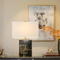 Современный черный мраморный корпус настольная лампа для спальни Abajur Lampe De Chevet De Chambre Lampara Luminaria De Mesa Art Deco