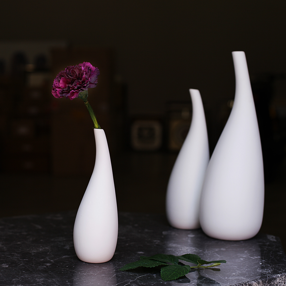 Buy 3 pcs modern porcelain flower vase for Decoration vase