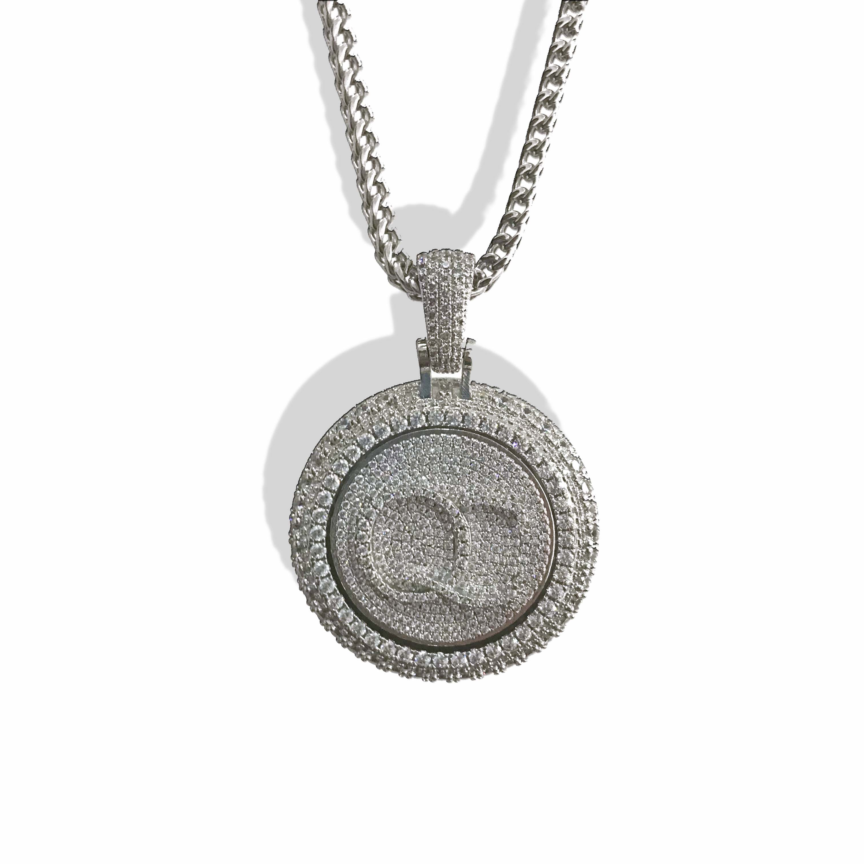 Personal custom spinning pendant gold plating pendant-in Charms from Jewelry & Accessories