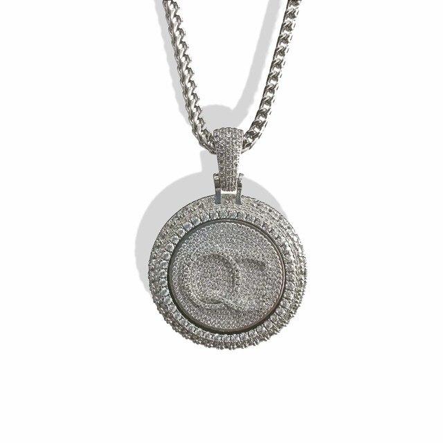 Personal custom spinning pendant gold plating pendant