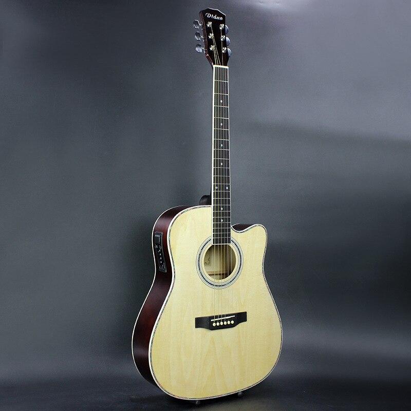 Guitare acoustique Folk de 41 pouces avec touche en palissandre EQ Guitarra avec cordes de guitare