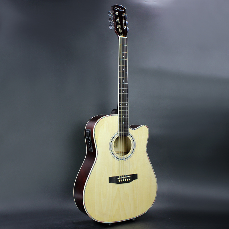 41 Inch Folk Guitar Acoustic Guitar with EQ Guitarra Rosewood Fingerboard Guitarra With Guitar Strings стоимость
