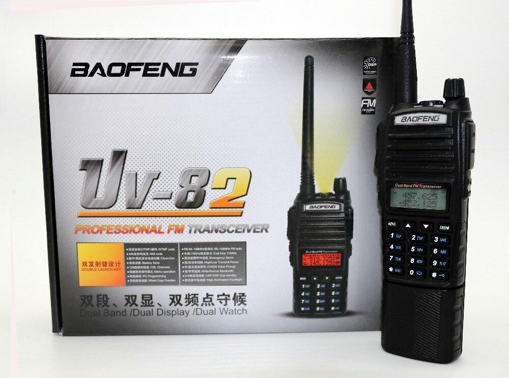 Baofeng UV-82 talkie-walkie avec 3800 mAh longue batterie VHF UHF double bande 5 W 128CH Portable cb Radio UV82 Radio bidirectionnelle pour la chasse