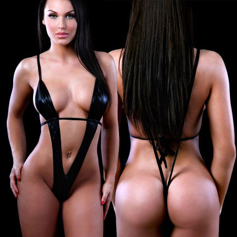 Swimming Suit For Women <font><b>Sexy</b></font> Womens Lingerie Swimwear Exotic <font><b>Micro</b></font> One Piece <font><b>Bikini</b></font> G-string Thong Slingshot Swimsuit image