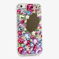 Women Colorful Bling Mirror Handmade Diamond Cover Case For MeiZu M3 Note Pro 6 MX6 M3