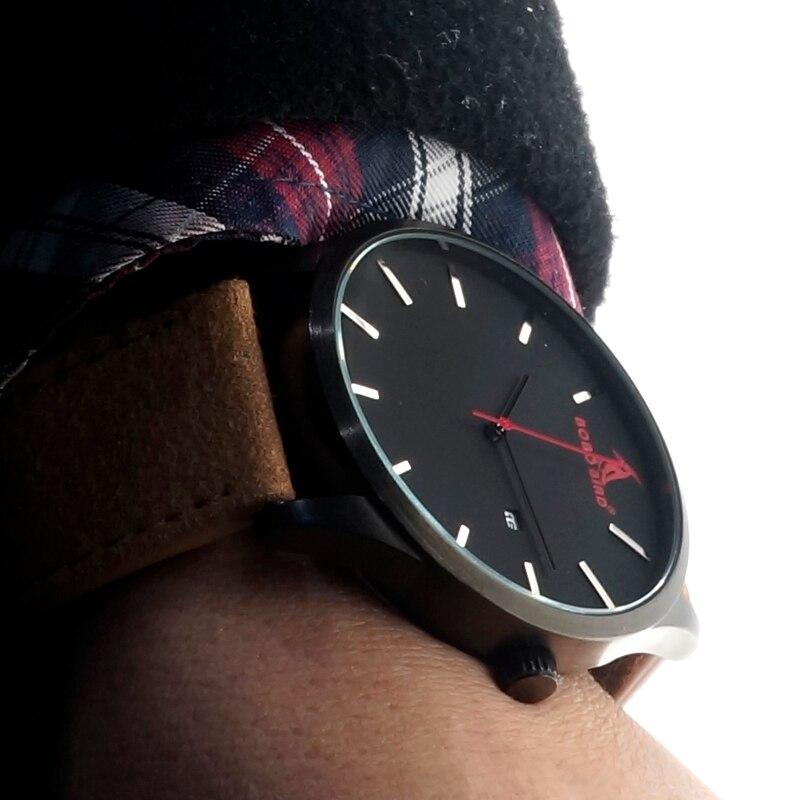 Image 5 - BOBOBIRD Top Luxury Brand Quartz Watches Business Military Men Watches Leather relogio masculino Leather Strap Clock-in Quartz Watches from Watches
