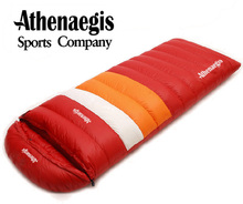 цена на Athenaegis Ultralight goose down 1200g/1500g/1800g/2000g filling can spliced envelope breathable thickening sleeping bag
