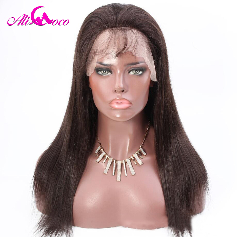 Ali Coco Brazilian Lace Front Human Hair Dark Brown Hair 2 Wigs 130 150 Density 13x4