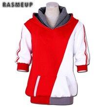 RASMEUP Pokemon Ir Entrenador Capucha Sweatershirt Sudaderas Con Capucha de Anime Cosplay Para Hombres Mujeres
