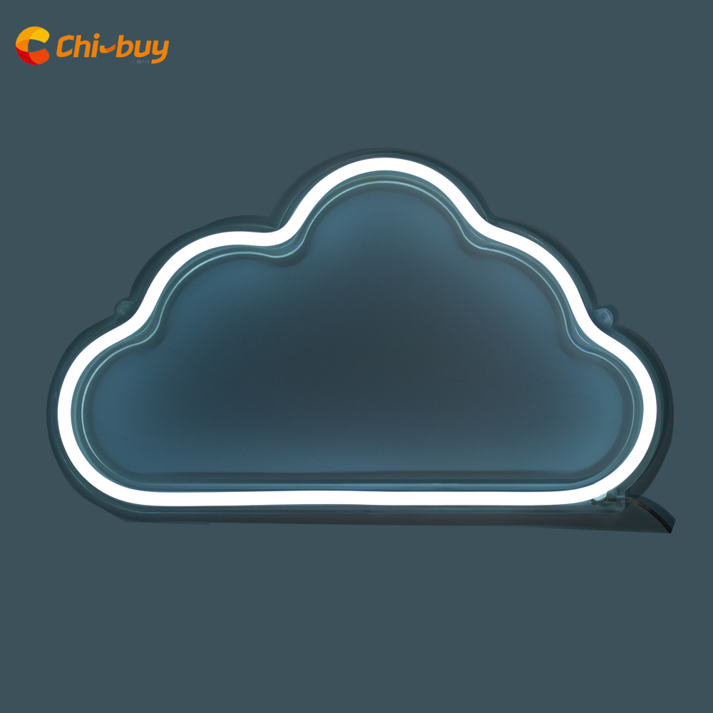 CHIBUY led neonlicht bord Wit Cloud LED Neon bord Licht Bruiloft decoratie feestdecoratie Muur neon Decor home decor borden