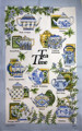 Tea time 100% cotton tea towel kitchen towel dishcloth towel cleaning cloth ultra durable dishcloth