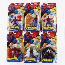 6 шт./компл. Spideman Marvel venom бойню ящерица человек-паук пвх рис игрушки бесплатная доставка