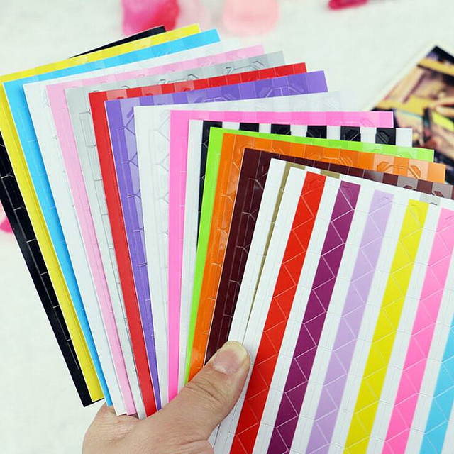 5 Set of 408 PCS DIY Scrapbooking Plastic Corner Protector Stickers For Pictures Photo Albums Frame Stamping Home Decoration