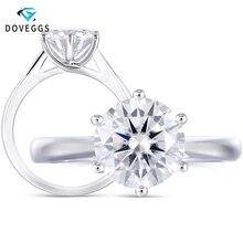 DovEggs 14K 585 White Gold Solitaire 2ct 8mm F Color Moissanite Engagement Ring for Women Wedding Gift цена в Москве и Питере