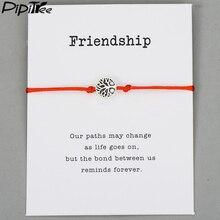 Pipitree Life Tree Charm Bracelets for Women Men Children Lucky Red String Friendship Wish Bracelets Jewelry Gift Adjustable