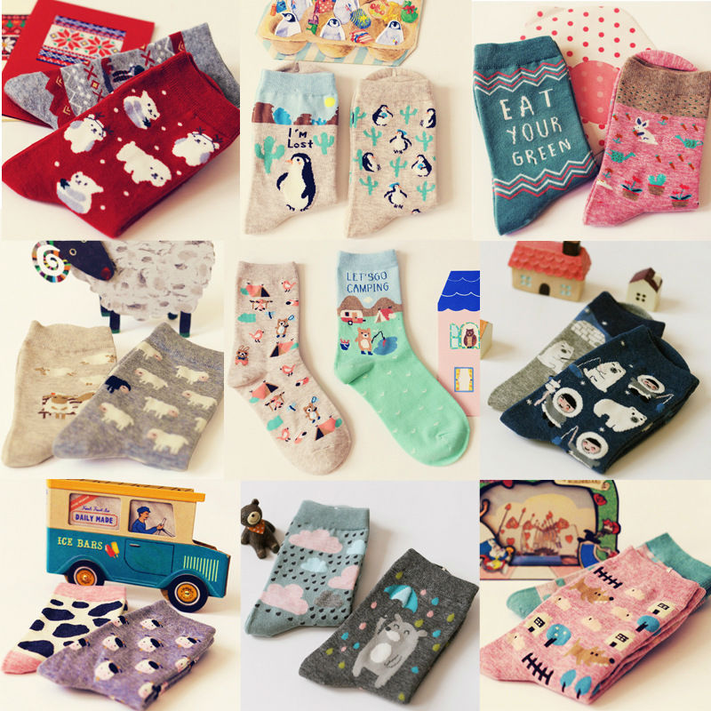 Japanese Kawaii Animal Paradise Socks Fu