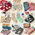 New Caramella Kawaii Animal Paradise Socks Funny Korean Women Panda Milk Cow Penguin Polar Bear Sock Cute Creative Cartoon Socks