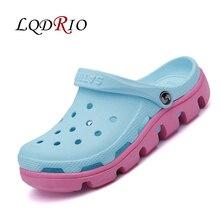 Новые женские сабо тапочки женские шлепанцы с прорезями Сабо сабо на платформе Дачная обувь для девочек Женская дышащая пляжная обувь