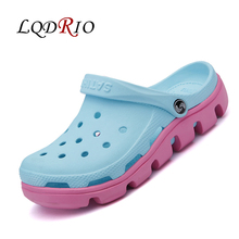New Womens Clogs Slippers Women Hole Slippers Mules Clogs Platform Garden Shoes for Girls Women Breathable Beach Shoes