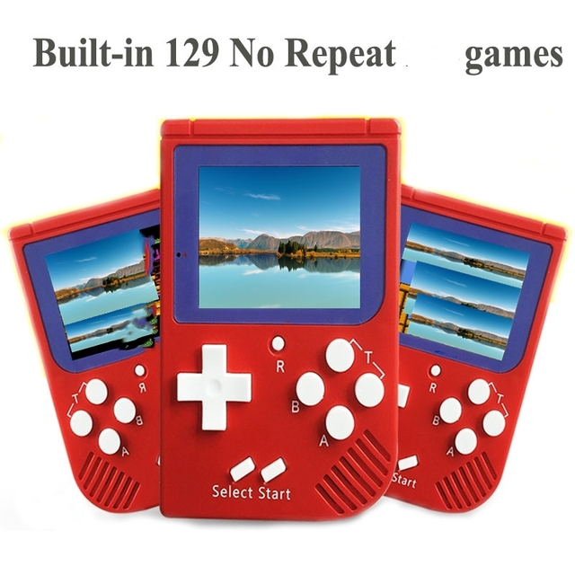 US $15 16 21% OFF|Coolbaby RS 6 Portable Retro Mini Handheld Game Console 8  bit 2 0 inch LCD Color Colour Children Game Player Built in 129 Games-in
