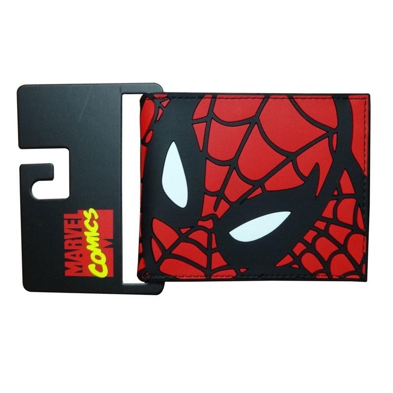 Novelty Cartoon Purse Hot Anime Spiderman Wallets Carteira Dollar Price Creative Gift Money Bags Gift Men PVC Short Wallet