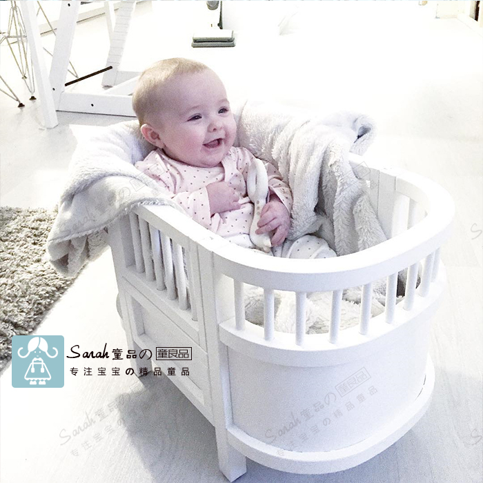 Children's toy bed simulation bed doll mini wood crib bed simulation mini golf course display toy set with golf club ball flag