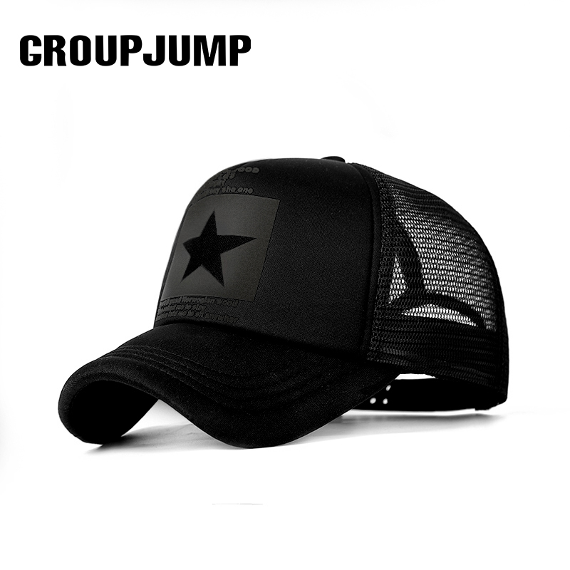 Baseball Cap Men Five-Pointed Star Mesh  Caps 8colors Women Summer Breathable Unisex Dropshipping Snapback Caps Outdoor Gorras