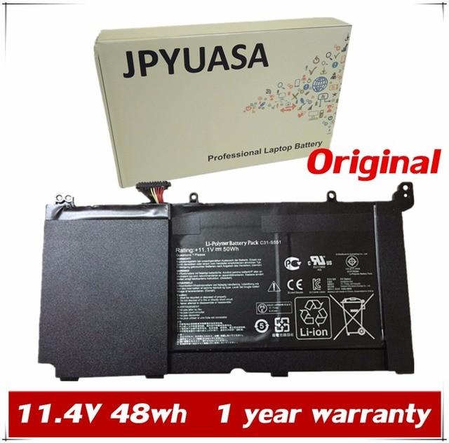 B31N1336 JPYUASA 11.4 V 48wh Bateria Do Portátil Para Asus VivoBook S551 C31-S551 R553L S551LB S551LA R553LN S551LN-1A Alta Qualidade