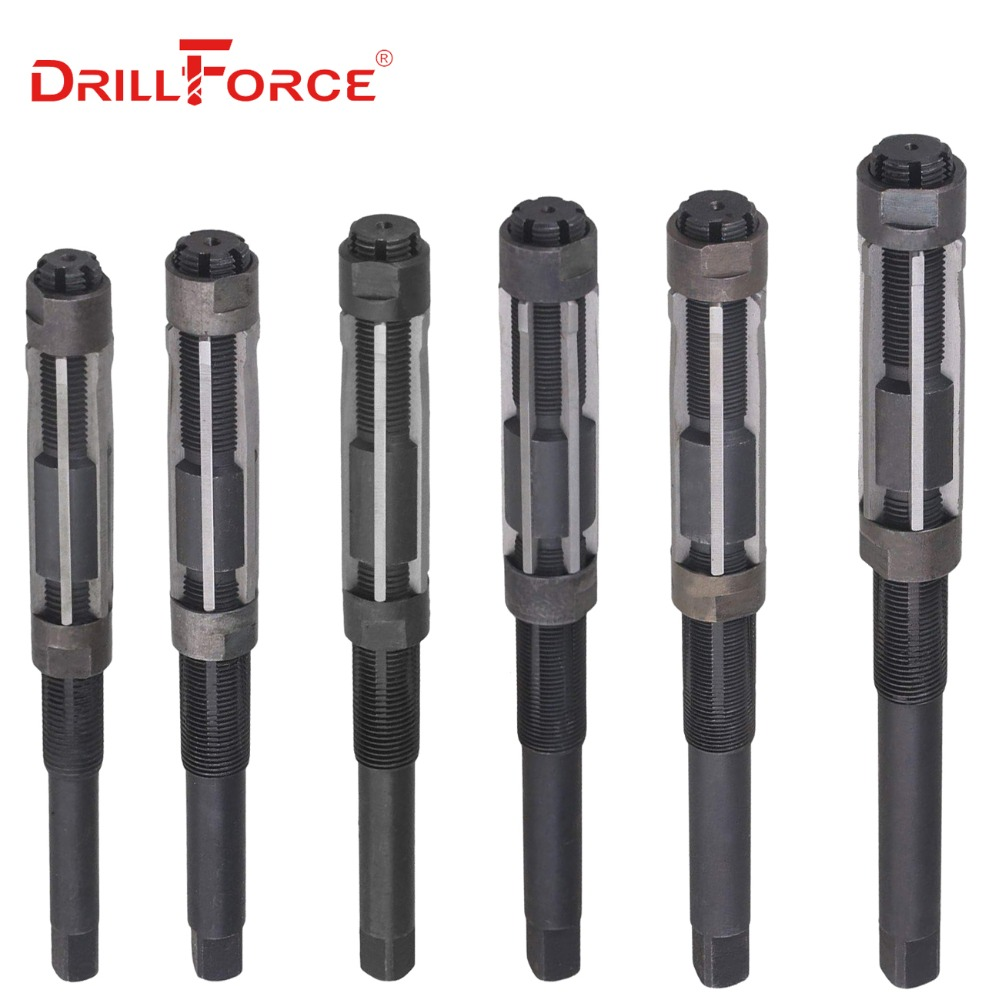 1PC Adjustable Hand Reamer HSS Size Range Alloy Steel Reamer Hand Reamer Machine Cutting Tools (26/29/30/33/38/44/54/64/74/84mm)