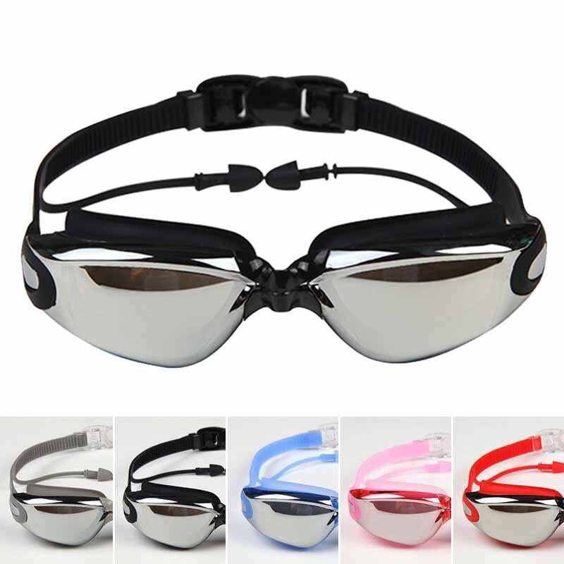 Hombres Mujeres Contra la Niebla UV Gafas de Protección Gafas de Natación Tapon