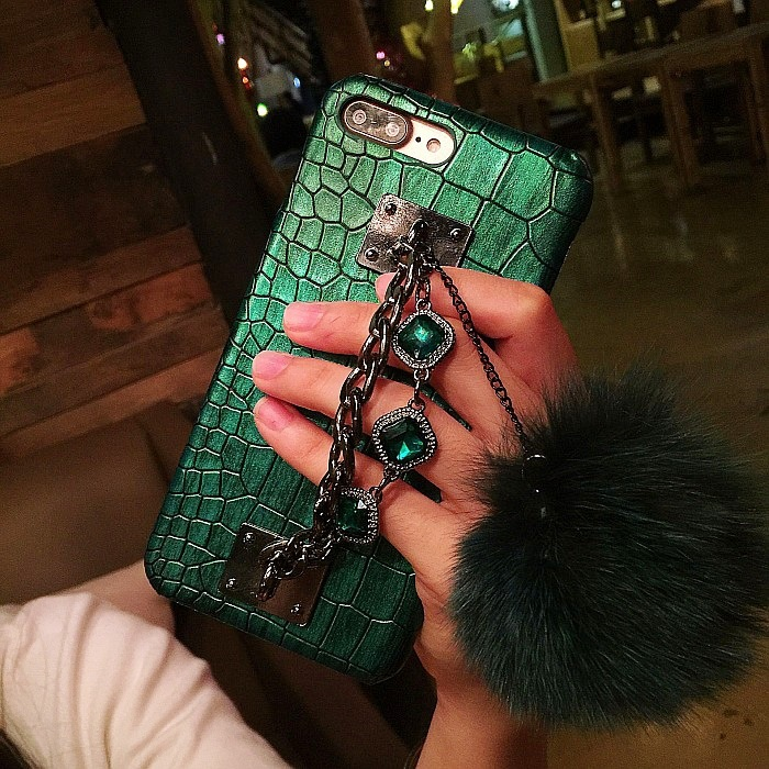 SZYHOME Phone Cases for Iphone X 7 8 Plus Luxury PU Leather Material 3D Metal Crocodile Pattern Fashion Fundas Phone Back Cover